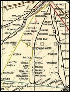 wood county ohio railroad stations