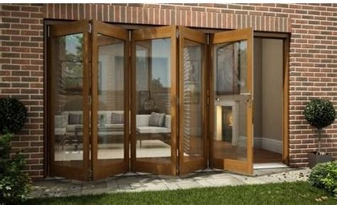 Homebase Patio Doors Oak Veneer Folding Sliding Patio Doorset 3594mm Wide Modern Screen Doors By Homebase