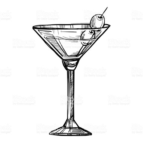 Drawn Cocktail Sketch Pencil And In Color Drawn Cocktail