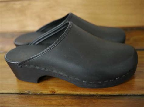 swedish comfort clogs vintage anna swedish leather wood comfort clogs 7 37 5