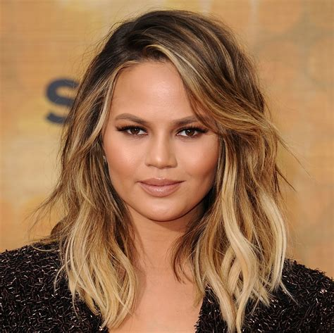 hairstyles for round head chrissy teigen television personality model biography com