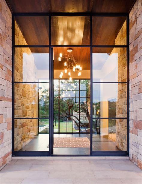spanish oaks contemporary house door design door glass