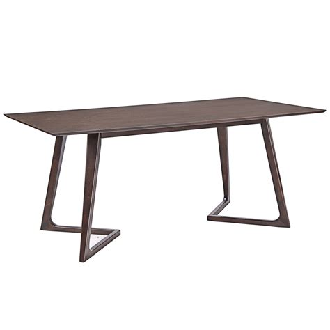 Walnut Wood Dining Table Sherwood Walnut Wood Dining Table Modern Furniture Brickell Collection