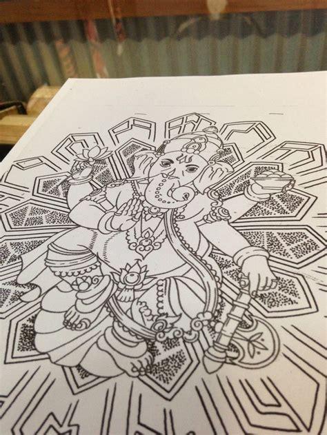 ganesh mandala tattoo ganesh with mandala tattoos pinterest mandalas and