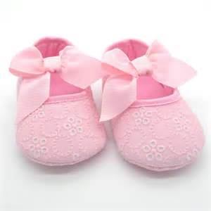 newborn baby flower shoes ribbon bowknot soft sole
