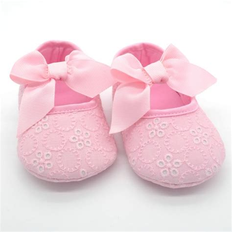 infant crib shoes toddler baby dress shoes infant ribbon flower soft