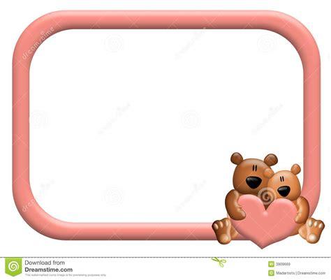 Frame Foto Teddy teddy hearts frame or border royalty free stock