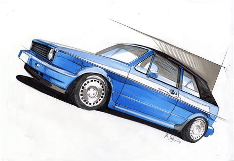 old volkswagen drawing mk1 cabrio custom drawing dibujos industrial pinterest