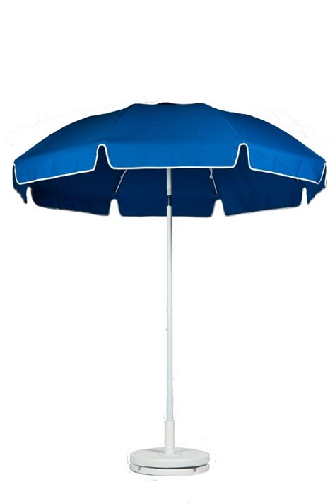 Patio Umbrella Pole Diameter 7 1 2 Diameter Pacific Blue Patio Commercial Outdoor Umbrella Manual Lift With Tilt 9 Oz