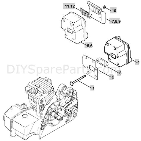 stihl ms250 chainsaw parts diagram stihl ms 250 chainsaw ms250 c parts diagram muffler