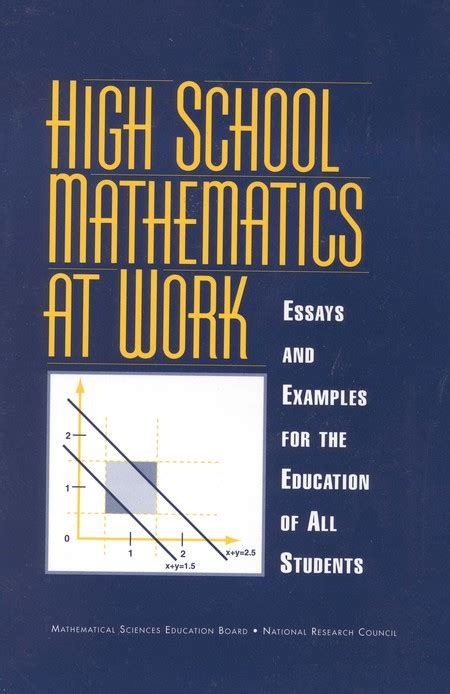 high school mathematics  work essays  examples   education   students