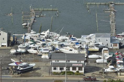 hurricane sandy boats sandy thursday press of atlantic city photo galleries