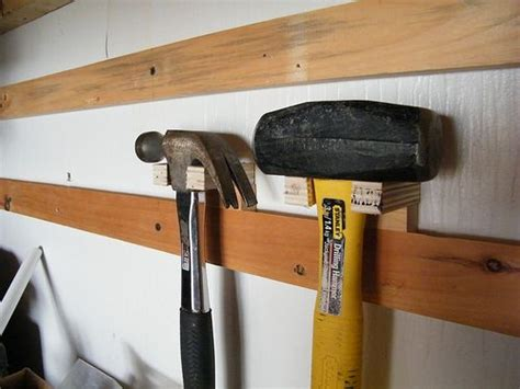 hammer garage cleat system in the garage organizing ideas