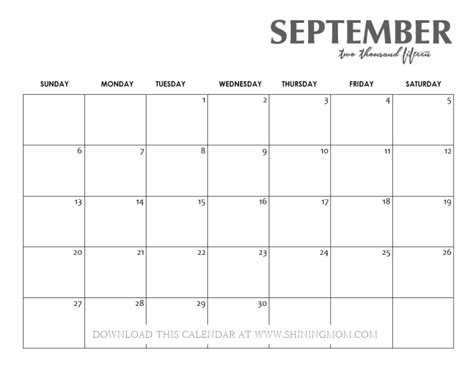 Calendar September 2015 September 2015 Calendar Www Imgkid The Image Kid
