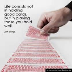famous quote cards quote by josh billings holding good