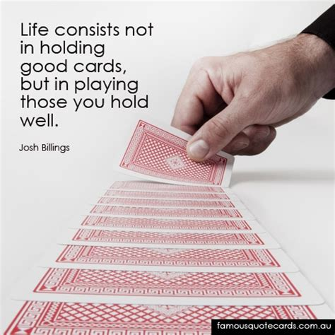 quotes about playing cards quotesgram