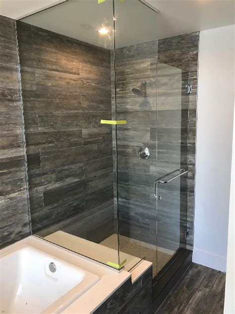 glass enclosed shower chrome u channel glass enclosed shower patriot glass and mirror san diego ca