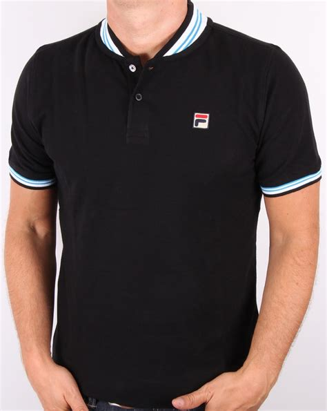 Black Fila Shirt Limited fila vintage skippa polo shirt black s