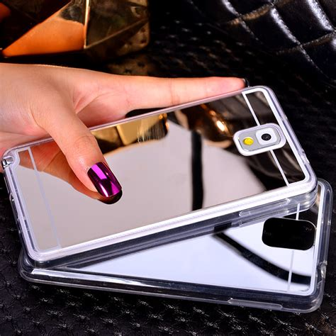 Samsung Note 5 Flip Miror Cover Silikon samsung s7 s6 edge note 5 silicone mirror protective sleeve cases sg705 cheap cell