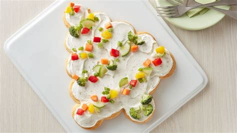 christmas tree snack by pilsbury tree shaped crescent veggie appetizers recipe pillsbury