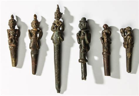 history of tattoo tools 6 bronze tattoo tools burma and thailand 19th c largest