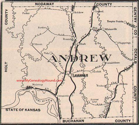 andrew map andrew county missouri 1904 map