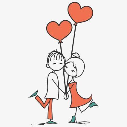 imagenes de amor muñecos animados pintado a mano de par pareja de dibujos animados amor