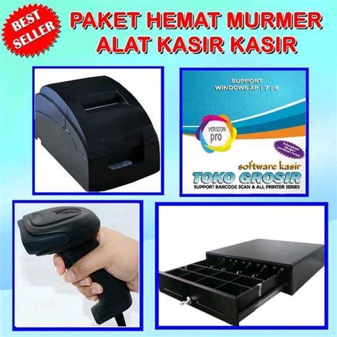 paket alat kasir printer barcode cash drawer software