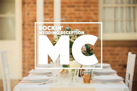 Wedding Ceremony Mc Script by How To Be A Wedding Reception Mc Master Of Ceremonies
