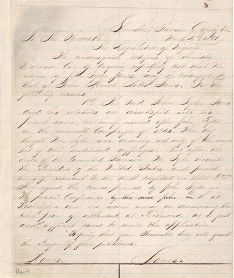 Fairfax County Court Records Divorce Page 1 Of Petition Citizens Of Shinnston 1861 Harrison County Legislative