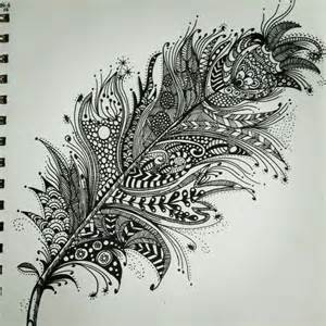 Zentangle feather patterns step by step google search