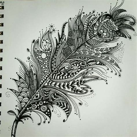 pattern drawing using c zentangle feather patterns step by step google search