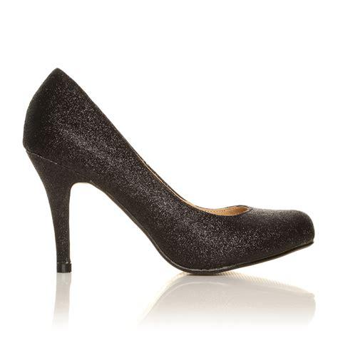 evening high heel shoes court shoes office smart black evening