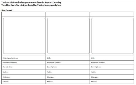 storyboard template word 10 storyboard templates word excel pdf formats