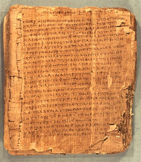Invention Of Paper - papyrus 66
