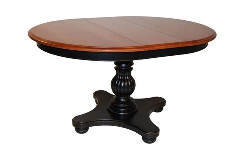 dining room table pedestal amish martinique single pedestal dining room table