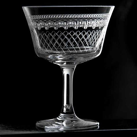 retro glass retro fizz 1910 cocktail glass 20cl vintage stemware