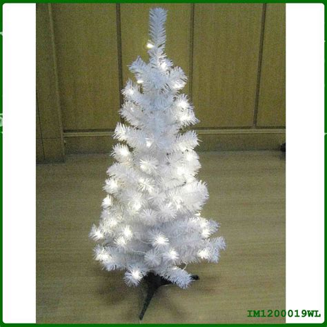 china mini white pvc christmas tree with lights