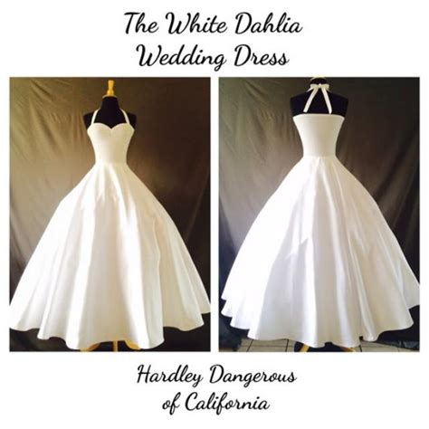 Pinup Style Wedding Dresses by The White Dahlia Sateen Wedding Dress Rockabilly 1950s