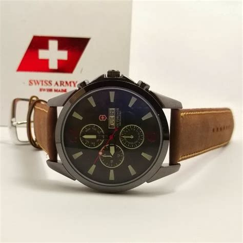 Jam Swiss Army Dhc Leather Black toko jam tangan di jogja jual jam tangan swiss army kw jogja