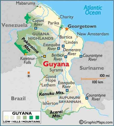 how many towns are there in guyana guyana map holidaymapq com