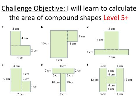 Compound Shapes Worksheet by Area Of Composite Figures Worksheet Lesupercoin
