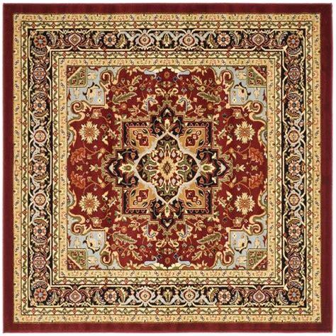square area rugs safavieh lyndhurst black 8 ft x 8 ft square area rug lnh330b 8sq the home depot
