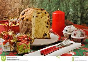panettone italian xmas cake royalty free stock photo