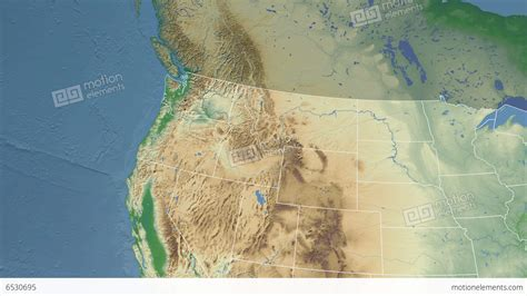 a physical map of washington washington state usa extruded physical map stock