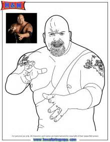 wwe wrestling the big show coloring page h amp m coloring