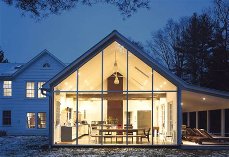 Floating Farmhouse with Curtain Wall Glass   Home Design