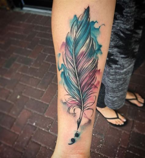 watercolor tattoo quill best 25 quill ideas on