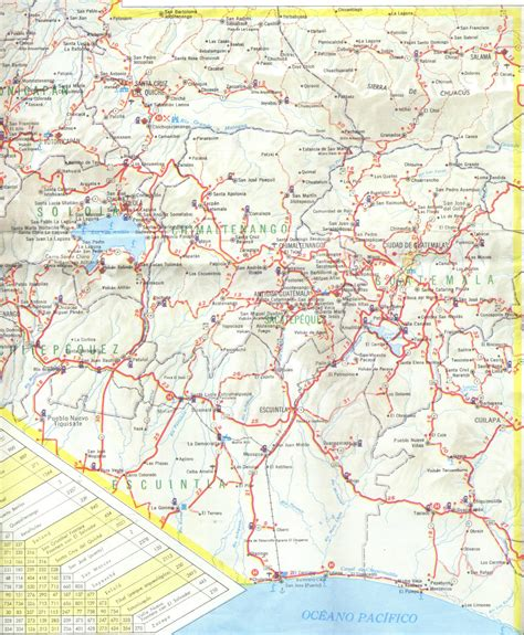 road map of south central usa south central guatemala detailed road map detailed road