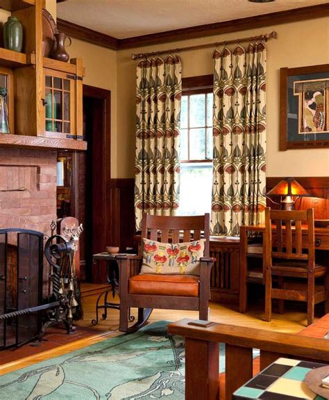 craftsman style curtains 17 best ideas about craftsman living rooms on pinterest